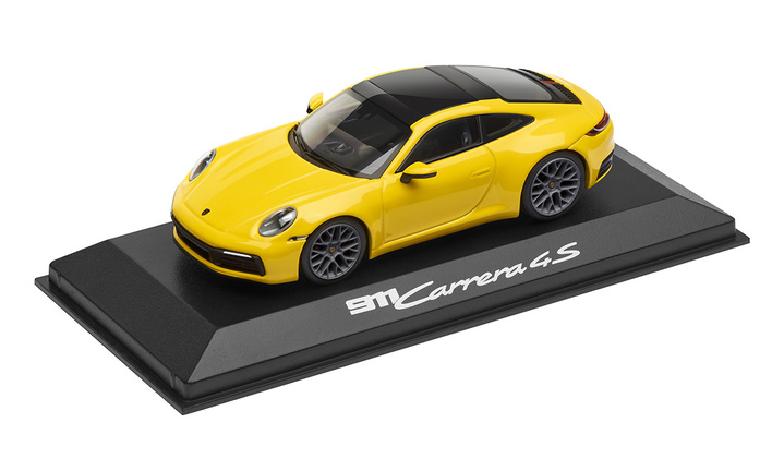1:43 Model Car   911 Carrera 4S in Racing Yellow (992)