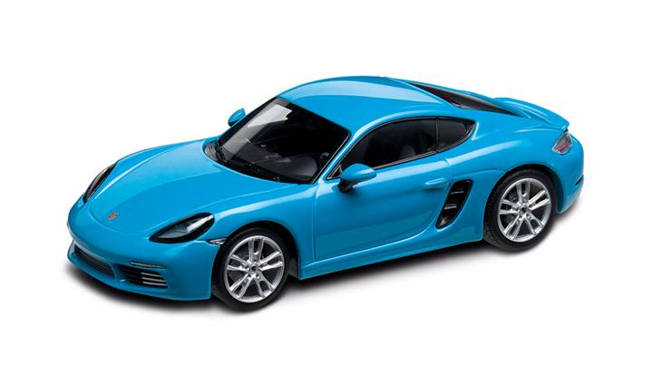 Porsche 718 Cayman S 982 Miami Blue 1 43 718 Model Cars