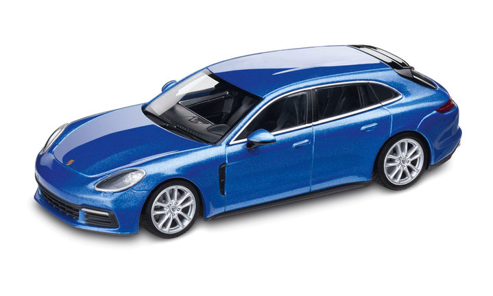 1:43 Model Car | Panamera 4S Sport Turismo Diesel in Sapphire Blue Metallic