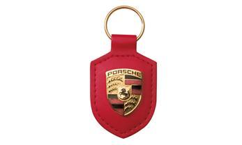 Porsche Red Crest Keyring