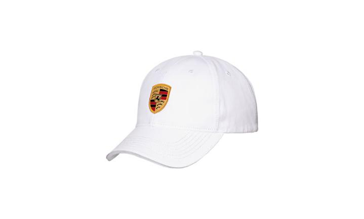 Porsche crest cap, white