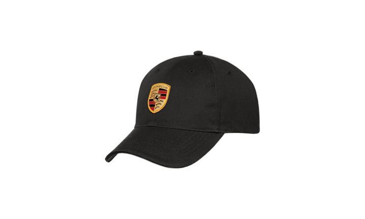 Black Porsche Crest Unisex Cap