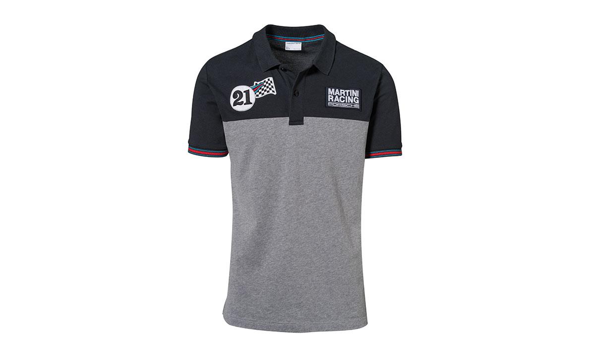 Martini Racing Collection Polo Shirt Men Dark Blue Grey Melange