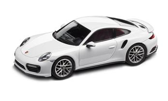911 (991 II) Turbo S Coupé, carraraweiß, 1:43