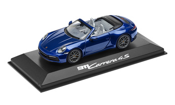 1:43 Model Car | 911 Carrera 4S Cabriolet in Gentian Blue Metallic (992)
