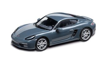 1:43 Model Car | 718 Cayman in Graphite Blue Metallic