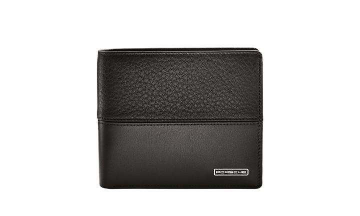Wallet, leather, black
