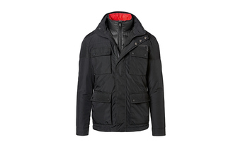 Textiles, 2 in 1 Jacket, Men, black/red, M