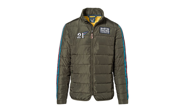 Martini Racing Men's Quilted Jacket in Khaki Green (Special Order Only)