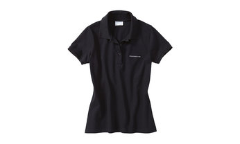Damen Polo-Shirt, schwarz