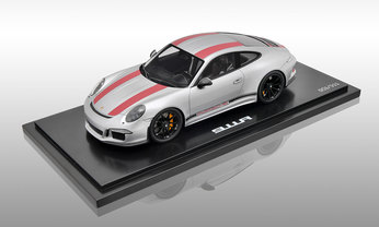 911 R, silber rot, 1:18