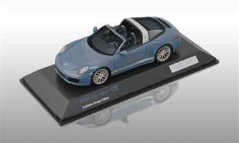 911 (991 II) Targa 4S - Exclusive Design Edition, aetnablau, 1:43