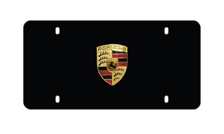 Porsche Badge Plate Matte Black