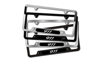 911 Brushed Stainless Steel License plate frame