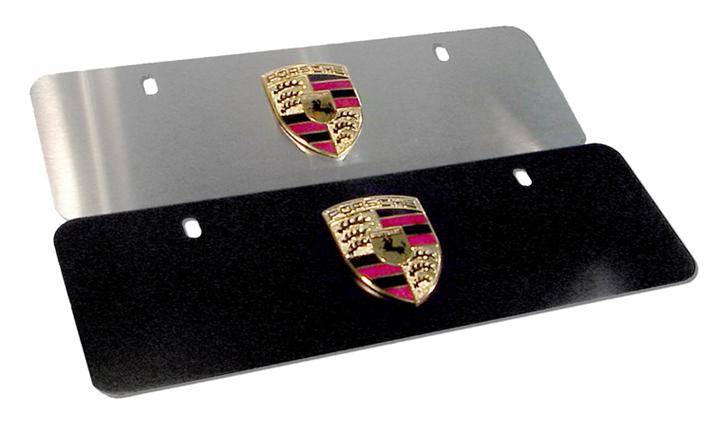 Porsche Plate Brushed Stainless Steel