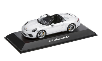 1:43 Model Car | 911 Speedster in White and Black (991.2)