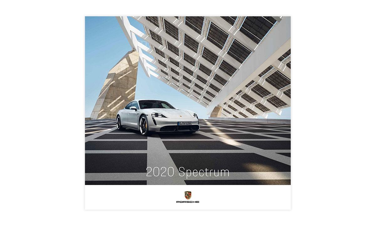 "2020 Porsche Calendar /""Spectrum/"" With Collectors Coin WAP0920020L"