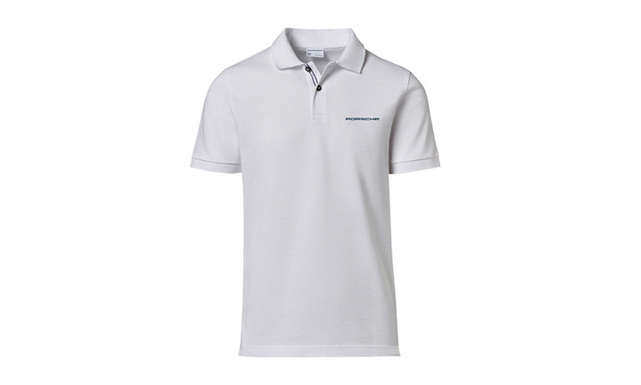 Men's Polo shirt white with lettering