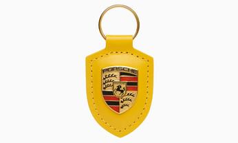 Porsche Crest Keyring, speed yellow