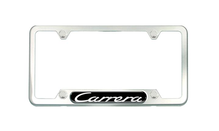 Carrera Brushed Stainless Steel license plate frame