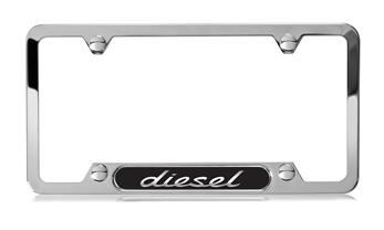 Diesel Polished Stainless Steel License Plate Frame